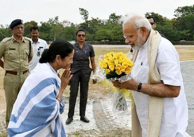 Prime Minister Narendra Modi and West Bengal Chief Minister Mamata Banerjee. (Photo: IANS/PIB)