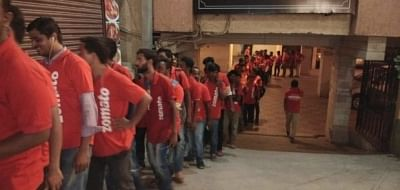 Zomato delivery executives.
