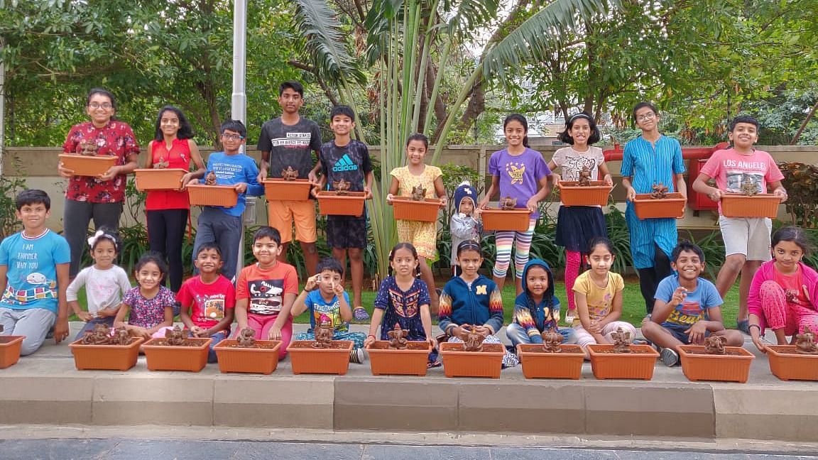 #GoodNews: Kids From Bengaluru Make Eco-Friendly Ganesha Idols