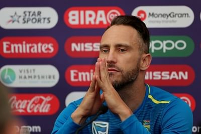England: South African skipper Faf du Plessis at a press conference ahead of his team