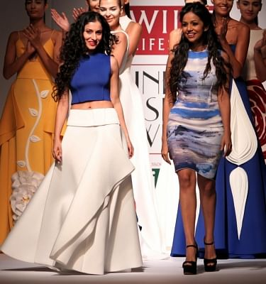 Fashion Designer duo Gauri and Nainika. (File Photo: IANS)