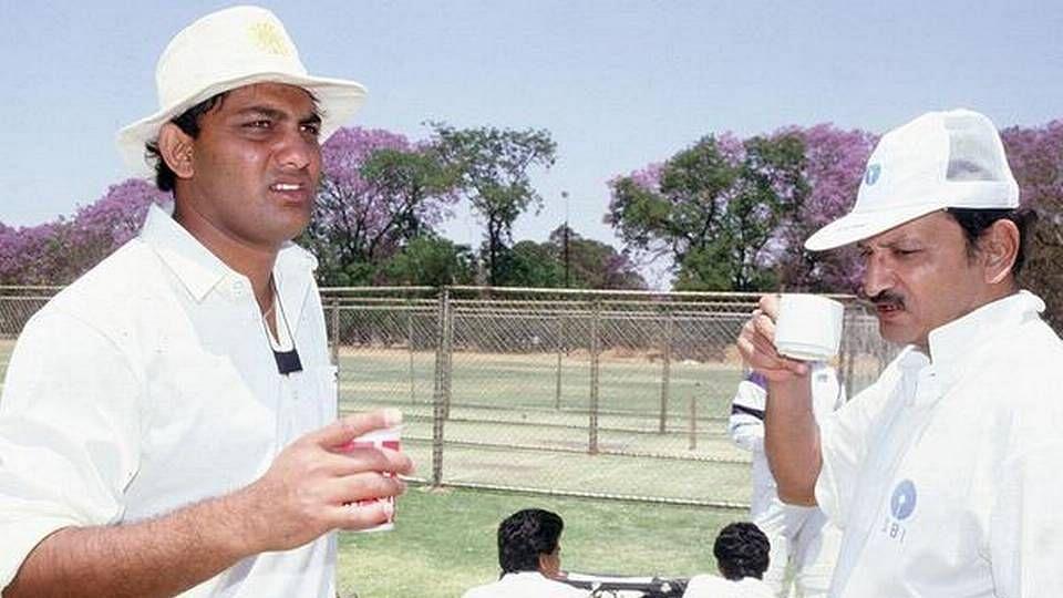 File picture of Azharuddin and Ajit Wadekar.