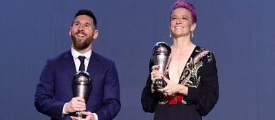 Messi, Rapinoe bag top honours at Best FIFA Football Awards.