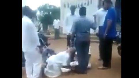 Telangana Farmers Fall at Official's Feet, Video Goes Viral