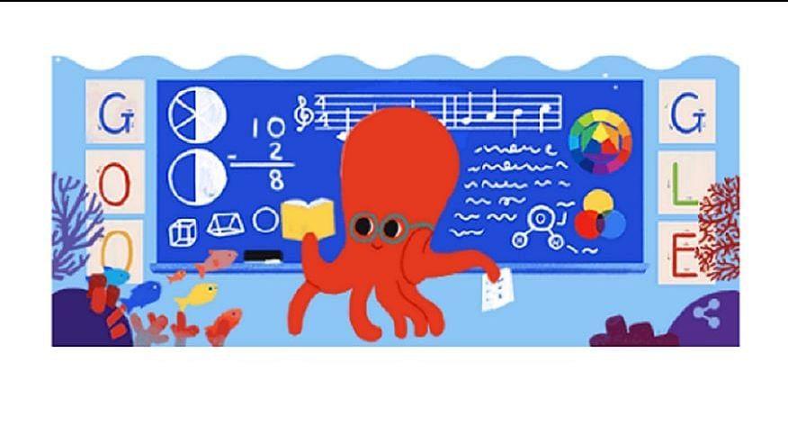 Google Doodle for Teachers' Day 2019.