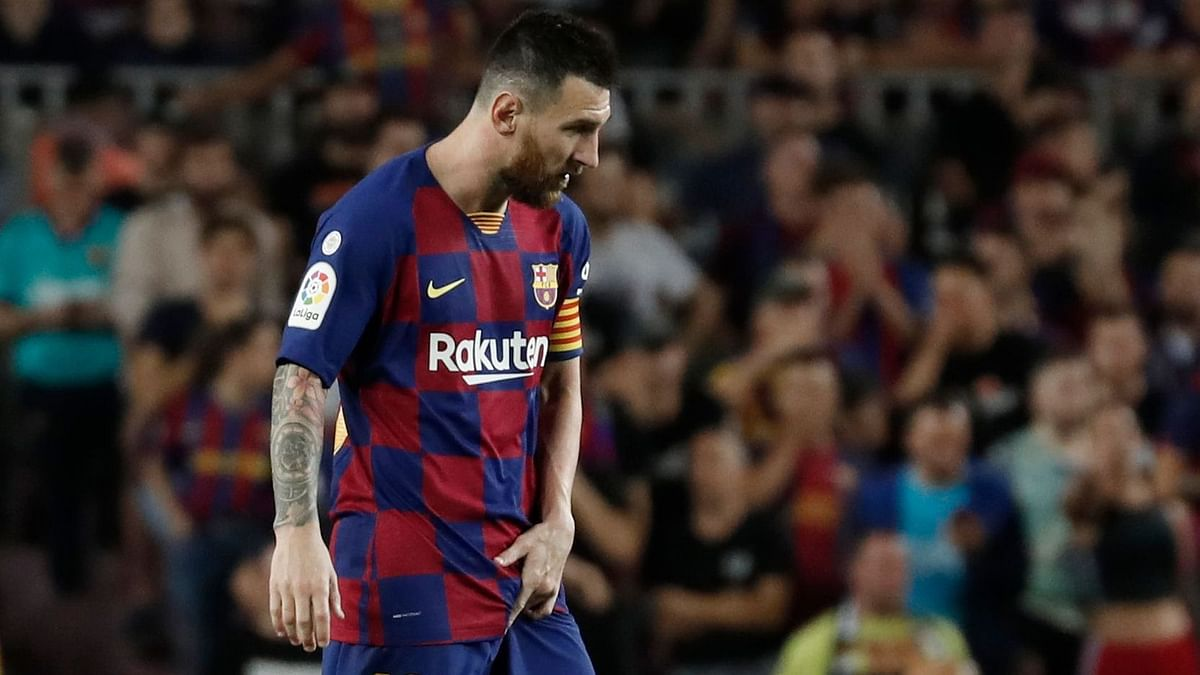 Lionel Messi had to be replaced at halftime of his first start after a long injury layoff.