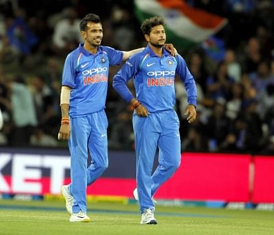 Kuldeep Yadav and Yuzvendra Chahal. (Photo: Surjeet Yadav/IANS)