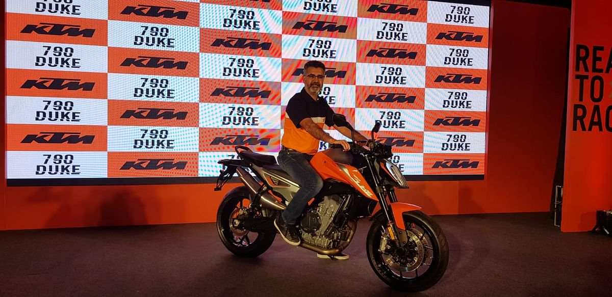 The KTM 790 Duke is the brand's entry into the super-bike segment in India.