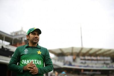 Sarfaraz Ahmed. (Photo Credit: Twitter/@cricketworldcup)