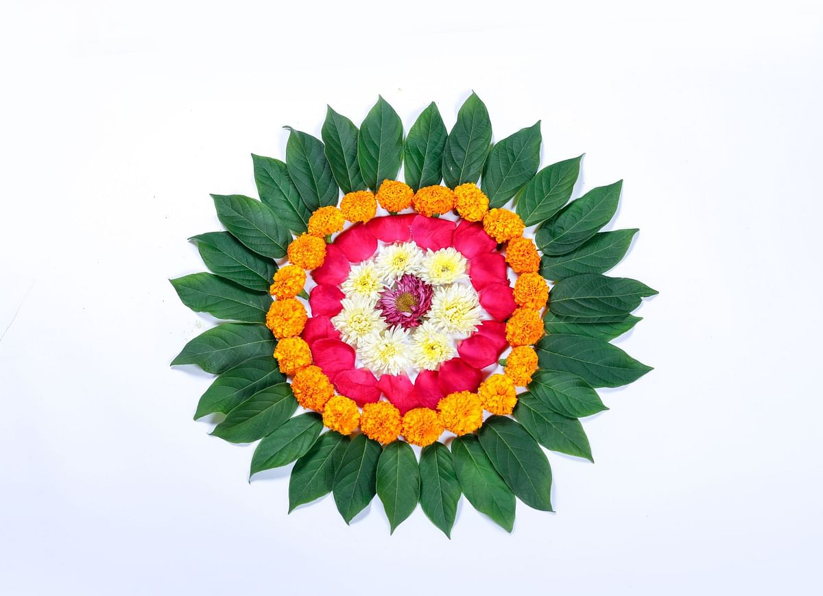 Decorate your house with beautiful rangoli.