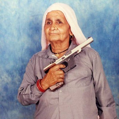 Chandro Tomar from Johri village, Baghpat. She is considered to be the wold's oldest sharpshooter.