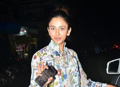 Mumbai: Actress Rakul Preet Singh seen at Juhu in Mumbai, on Aug 28, 2019. (Photo: IANS)