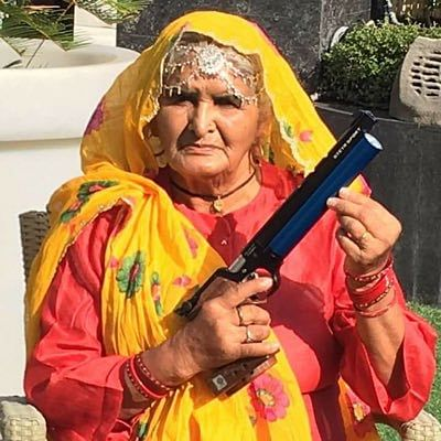 Prakashi Tomar is an 82-year-old sharpshooter from Johri village in Baghpat. In 'Sand Ki Aankh, Taapsee's role is based on her life.