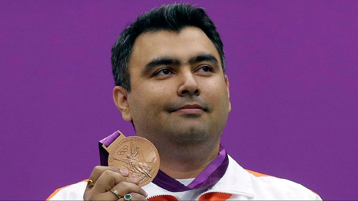 Gagan Narang won the bronze at the 2012 London Olympics.