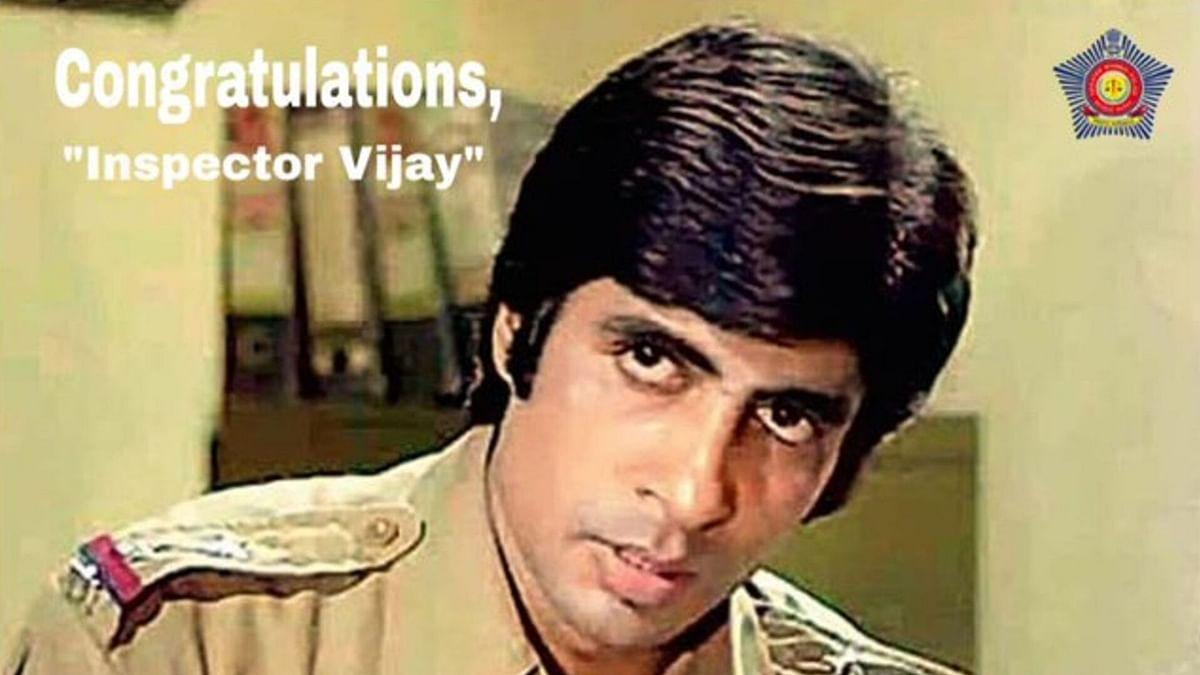 Mumbai Police Congratulates Amitabh for Dada Saheb Phalke Award