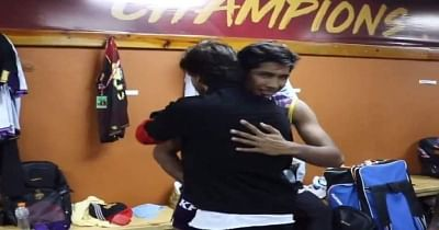 Teenaged Pakistan tearaway Mohammad Hasnain had a moment to cherish while playing in the Caribbean Premier League (CPL) when Bollywood star actor Shah Rukh Khan hugged the pacer for his effort during Trinbago Knight Riders