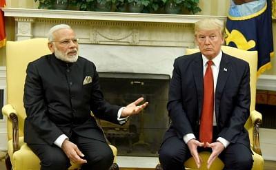 Washington DC: Prime Minister Narendra Modi meets President of United States of America (USA) Donald Trump, at White House, in Washington DC, USA on June 26, 2017. (Photo: IANS/PIB)