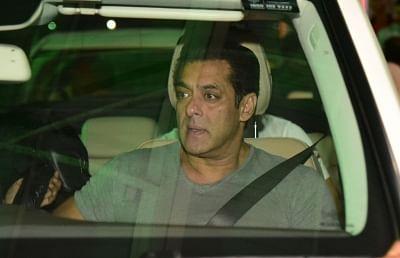 Jaipur: Actor Salman Khan arrives in Jaipur on Aug 14, 2019. (Photo: Ravi Shankar Vyas/IANS)