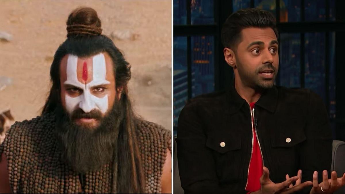 Saif Ali Khan in <i>Laal Kaptaan</i>; Hasan Minhaj on <i>Late Night With Seth Meyers.</i>