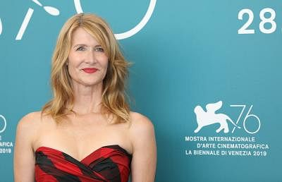 "VENICE, Aug. 29, 2019 (Xinhua) -- Actress Laura Dern attends a photocall for the film ""Marriage Story"" during the 76th Venice International Film Festival in Venice, Italy, on Aug. 29, 2019. (Xinhua/Cheng Tingting/IANS)"