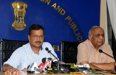 New Delhi: Delhi Chief Minister Arvind Kejriwal addresses a press conference, in New Delhi on Sep 24, 2019. (Photo: IANS)