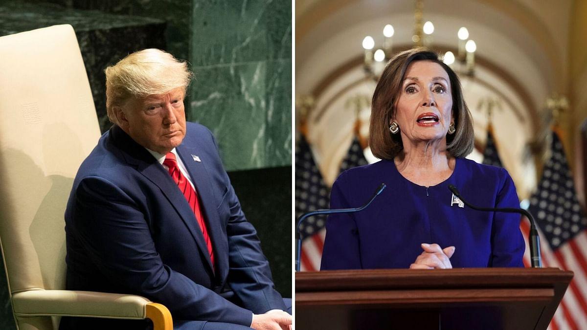 US President Donald Trump and House Speaker Nancy Pelosi.