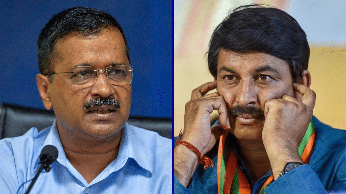 BJP Protests Outside Kejriwal's House Over NRC Dig At Manoj Tiwari