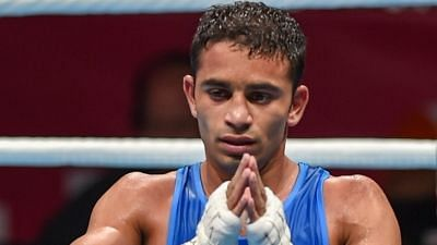 File picture of boxer Amit Panghal.