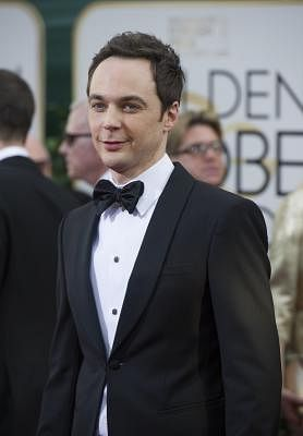 BEVERLY HILLS, Jan. 13, 2014 (Xinhua/IANS) -- Actor Jim Parsons arrives for the 71st annual Golden Globe Awards in Beverly Hills, California, the United States, on Jan. 12, 2014. (Xinhua/Yang Lei)