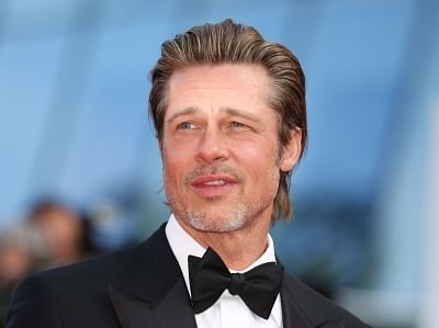 """CANNES, May 22, 2019 (Xinhua) -- Actor Brad Pitt attends the premiere of Quentin Tarantino-directed film """"Once Upon a Time in Hollywood"""" during the 72nd Cannes Film Festival in Cannes, France, May 21, 2019. """"Once Upon a Time in Hollywood"""" will compete for the Palme d"""