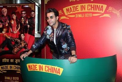 "Mumbai: Actor Rajkummar Rao at the trailer launch of his upcoming film ""Made In China"" in Mumbai on Sep 18, 2019. (Photo: IANS)"