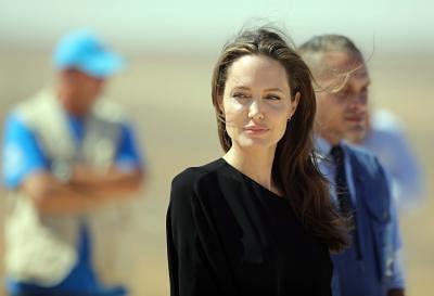 Angelina Jolie. (Xinhua/Mohammad Abu Ghosh/IANS)
