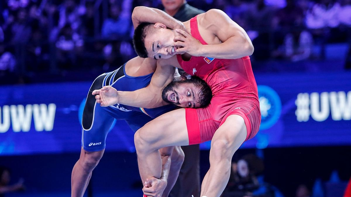 Ochir had put Bajrang under a lot of pressure from the beginning to take the lead.