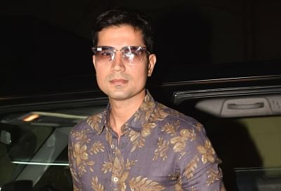 "Mumbai: Actor Sumeet Vyas at the screening of upcoming film ""No Fathers in Kashmir"" in Mumbai, on April 3, 2019. (Photo: IANS)"