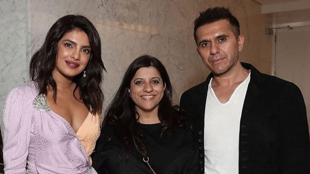 Priyanka Chopra with Zoya Akhtar and Ritesh Sidhwani.