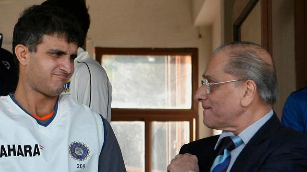 File picture of Sourav Ganguly with Jagmohan Dalmiya.
