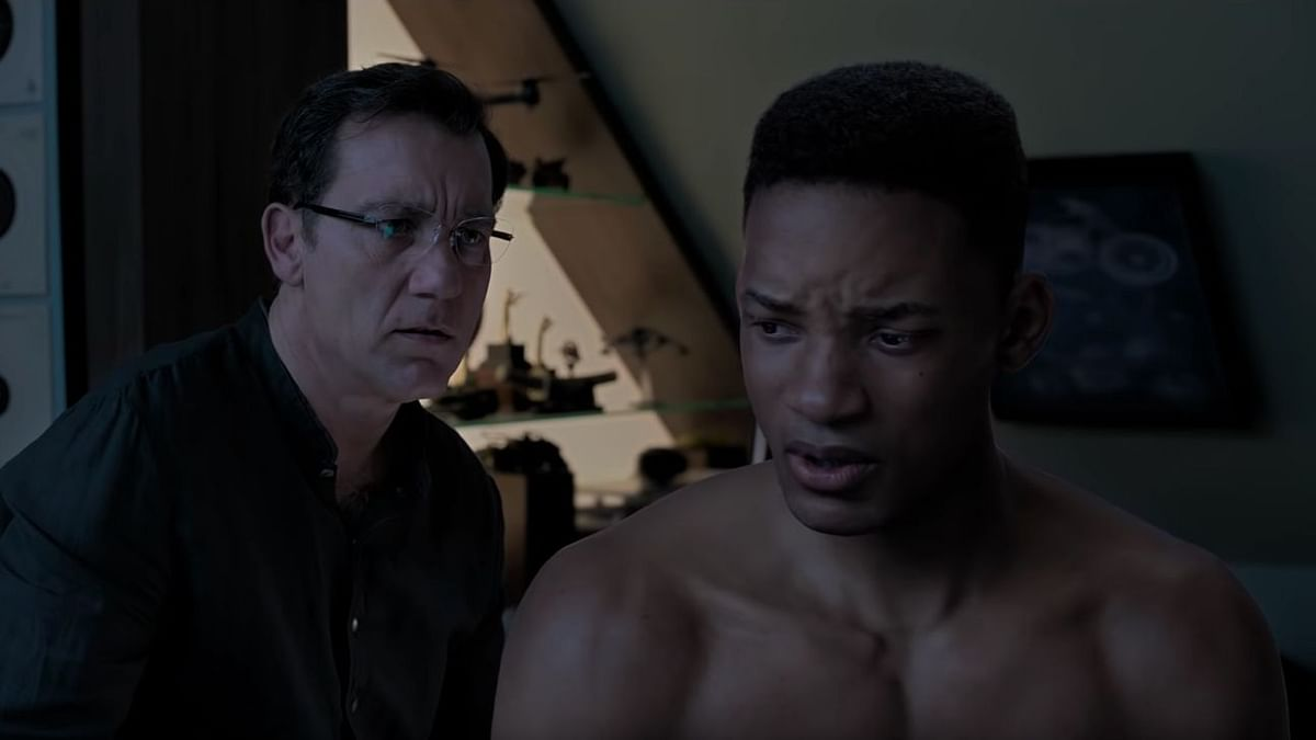 Clive Owen with the younger Will Smith in <i>Gemini Man.</i>