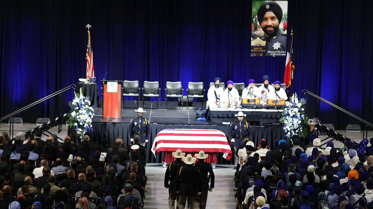 Thousands Pay Tribute to Slain US Cop Sandeep Dhaliwal in Houston