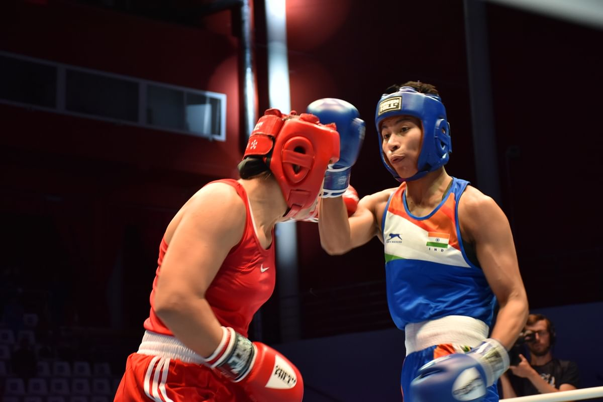 The last bout of the first session featured Lovlina Borgohain and she also took time to find her rhythm against Ahbib.