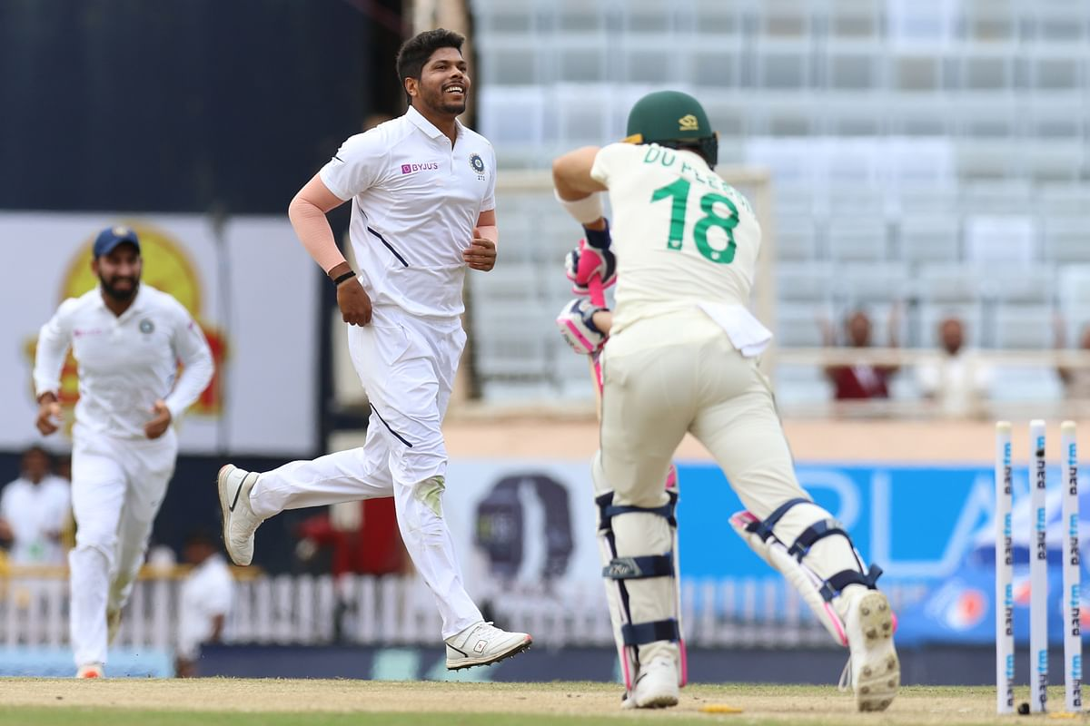 Pacer Umesh Yadav was the pick among the home bowlers in the first innings, finishing with 3 wickets for 40 runs.