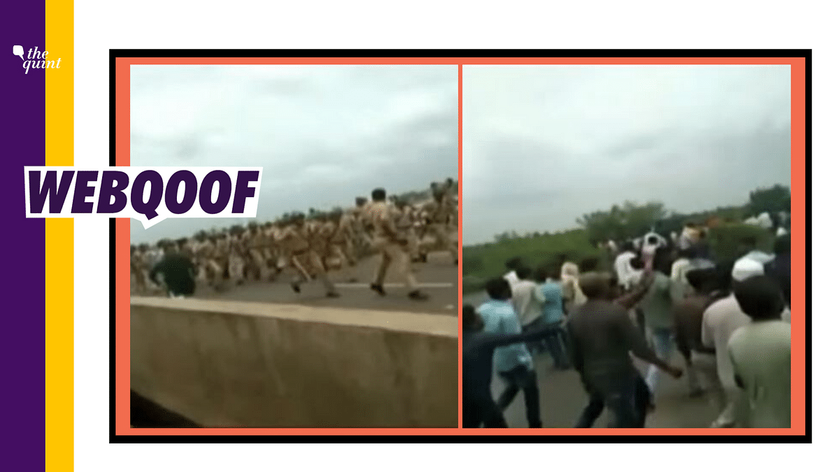 Old Video of Maratha Protests Passed Off as Attack on Assam Police