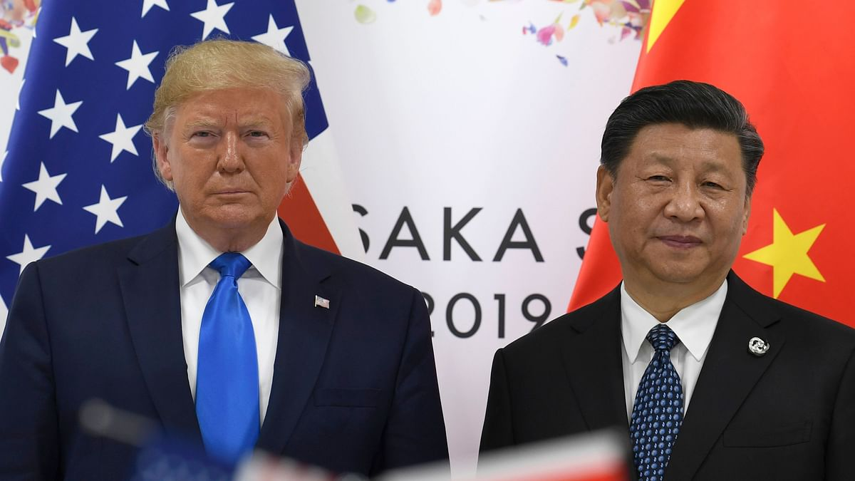 Left: US President Donald Trump. Right: Chinese President Xi Jinping