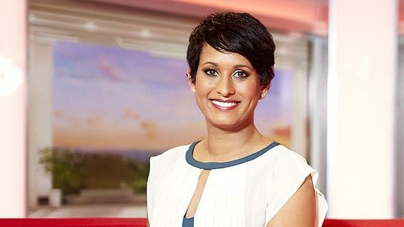 BBC's flagship news show presenter, Naga Munchetty.