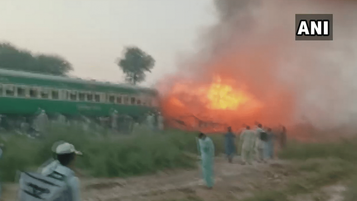 At least 73 people were killed and several others were injured as Karachi-Rawalpindi Tezgam express in Pakistan caught fire.