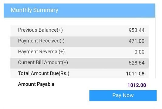 Nabi's BSNL bill for for the month of September that he had to clear despite not making a single call because of the communication lockdown in the valley.