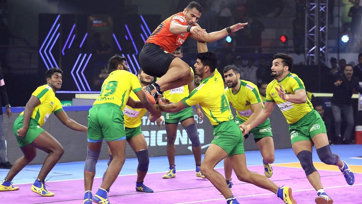 U Mumba inflicted the first All-Out of the game on Tamil Thalaivas to extend their lead to eight points.