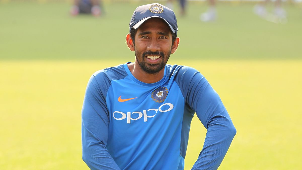 Wriddhiman Saha will keep for India in the first Test against South Africa.