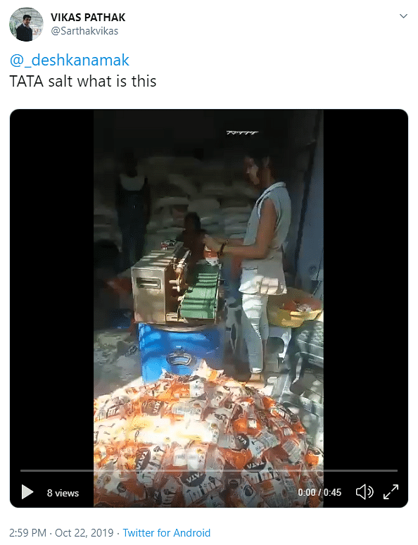 The video has been shared on Twitter with a similar claim.