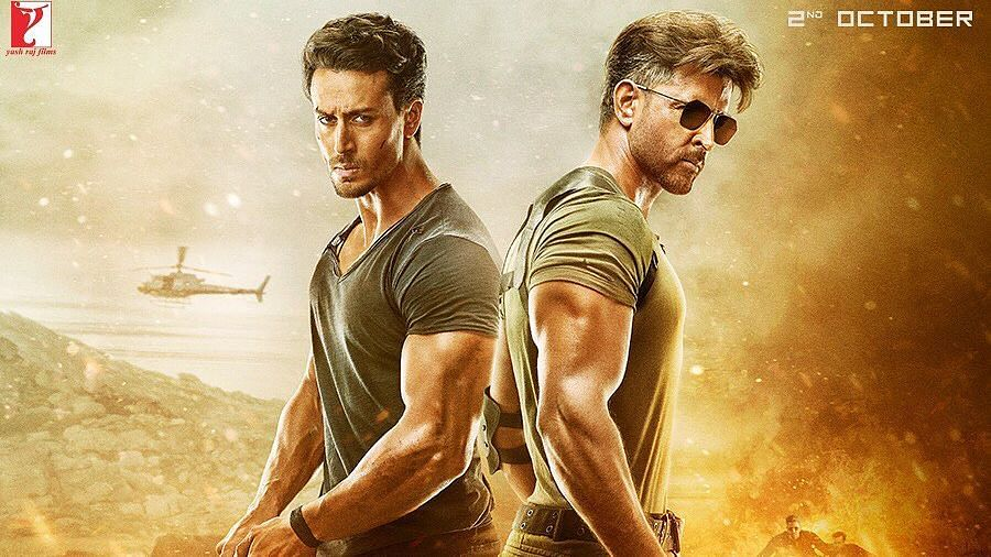 Tiger Shroff and Hrithik Roshan in <i>War</i>.
