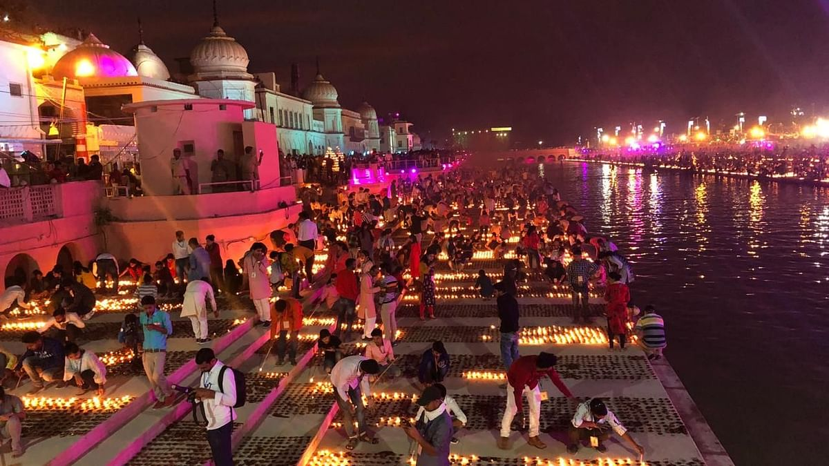 In Pics: Ayodhya Makes World Record As 6 L Diyas Light Up Diwali